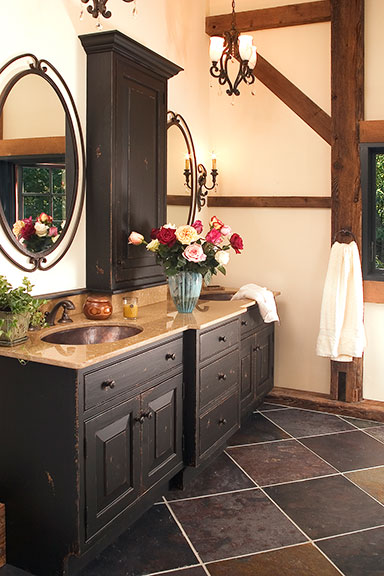 rustic master bathroom Rustic Bathrooms Designs & Remodeling | HTRenovations