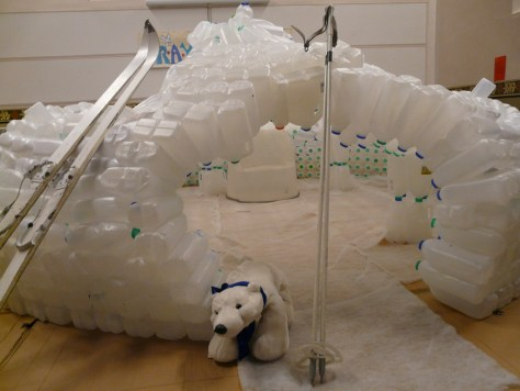 Our Milk Bottle Igloo
