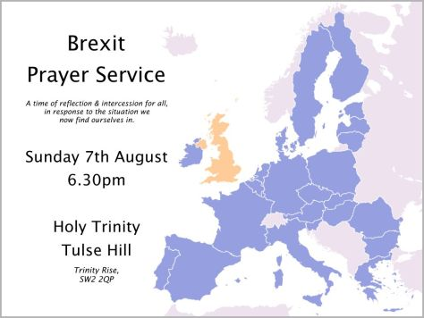 brexit prayer service