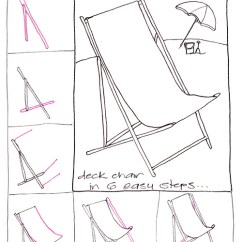 How To Make A Wooden Beach Chair Lipper Round Table And Chairs Learn Draw Deck Step By Crafting Goodness In 6 Easy Steps