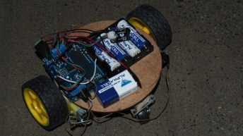 Robot controlled with a Dstv remote
