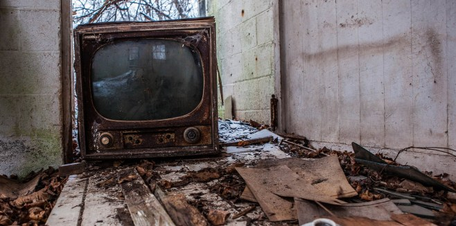 Old TV abandoned