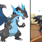 Mega Charizard is both a dragon type, and a 3D print