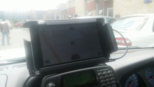 An example of the devices Namola will install into SAPS vehicles in Diepsloot.