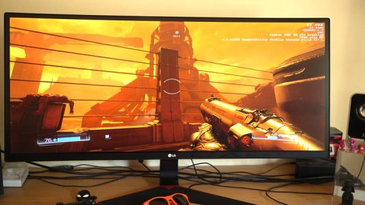 Colours look great on this monitor at its default settings.