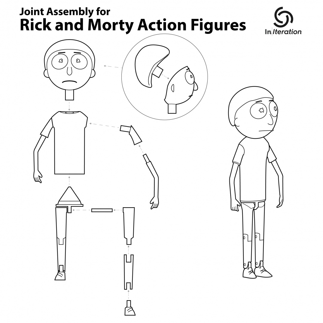 Rick And Morty Action Figure 3d Prints Pic 10