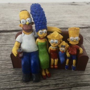 The Simpsons 3D Printed Couch Pic 1