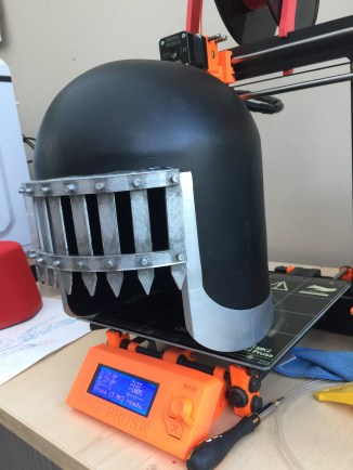 Judge Death Helmet 3D Print Pic 2