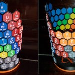 This periodic table art piece is 3D printed