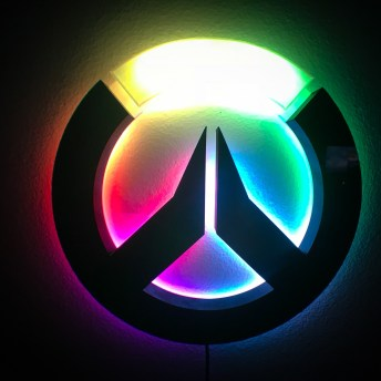 3D Printed Overwatch logo light 3