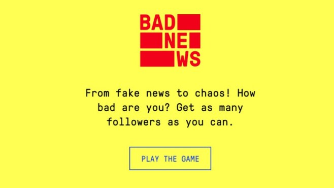 Bad News teaches you about the spread of misinformation