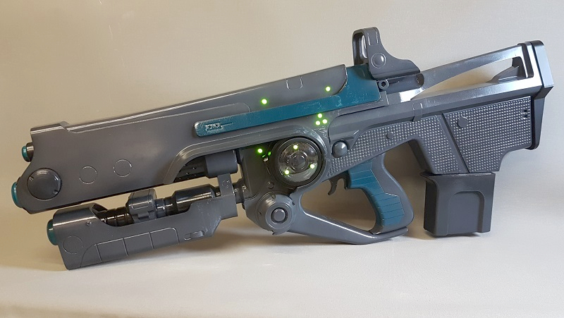 A 3D Print Of Destiny 2s Hard Light Rifle Complete With Working LEDs