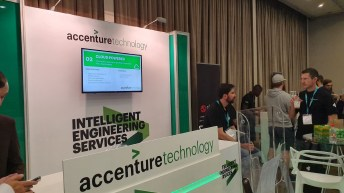 Accenture was here speaking about its services.