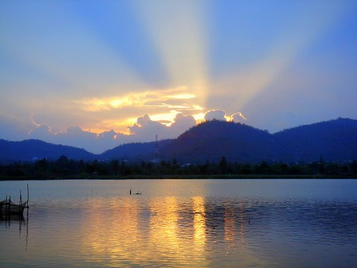 A Divine Sunset Upon the Lake of Shining Waters