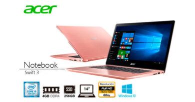 LAPTOP Ci5 ACER Swift3 7ma 4/256/14/w10 Rosa Sakur