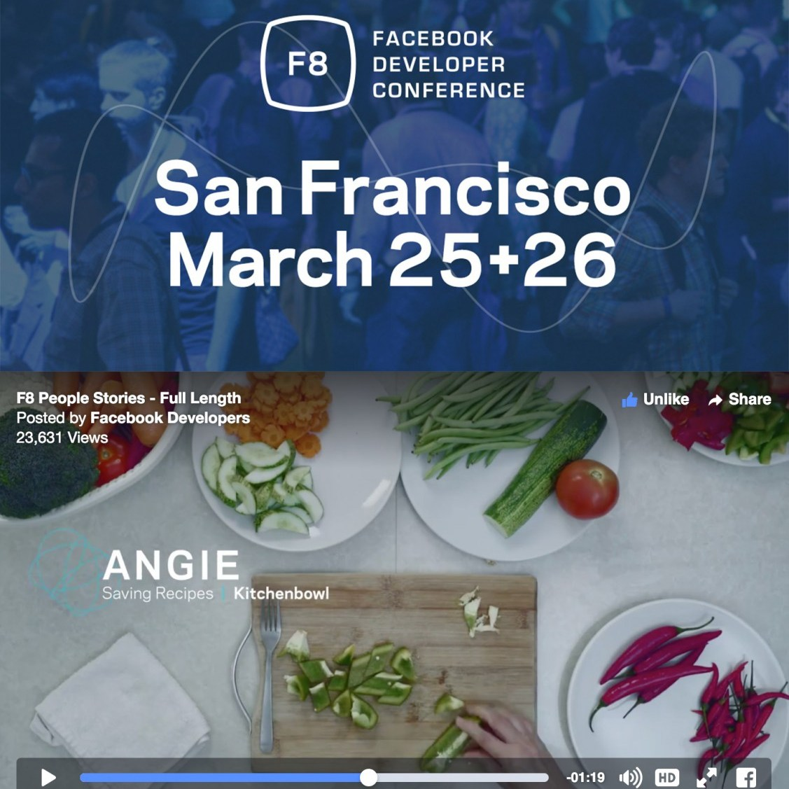 Facebook F8 Conference Featuring Huang Kitchen