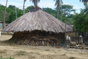 African Style Round Houses in Costa Chica Region