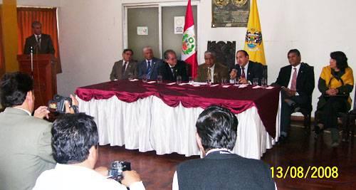 Autoridades de San Marcos y Alcalde Jaime Uribe