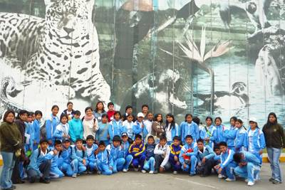 Delegacón de niños de Palpa en Huachipa
