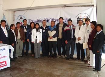 Alcalde, personal de la Municipalidad de Aucallama y del Hospital de Chancay.