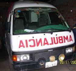 Ambulancia en mal estado