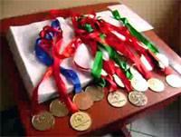 Medallas obtenidas por los deportistas.