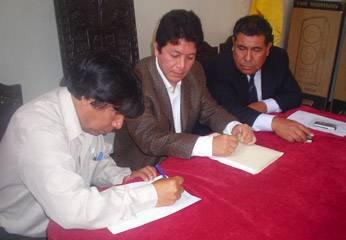 Sabino Barboza, Grover Susanibar y el Asesor Jorge Muñoz