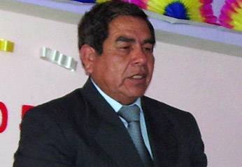 Alcalde del distrito de Sumbilca Andrés Doroteo Cuadros
