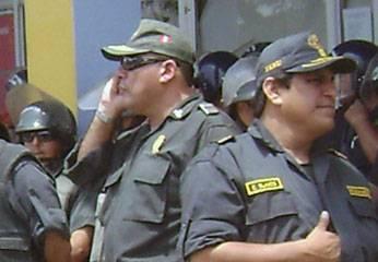 Comandante Albarracin en pleno trabajo en paro de transportistas.