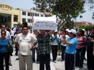 Protesta en Chancay