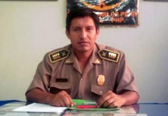 Comandante de Chancay Alfonso Huilca.