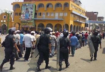 Paro nacional de agricultores en Huaral