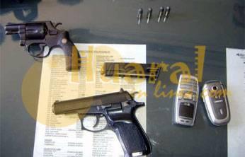Armas que se les halló.
