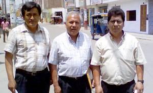 Pedro Castañeda, Alejandro Marin y Marco Reyes.
