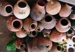 Piezas cerámicas de Chancay.