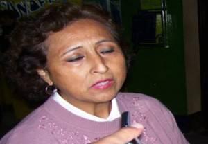 Regidora y Secretaria del APRA en Chancay, Gina Pérez.
