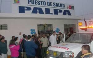 Entrega al puesto al salud de Palpa.