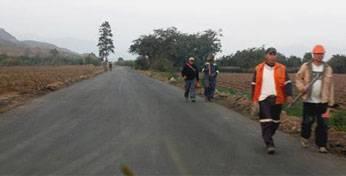 Asfaltado de la carretera Huando - palpa.