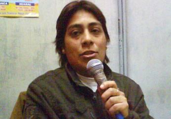 Noelia Baca Oyola, conductora del programa musical Tropicumbia.