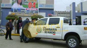 El detenido fue trasladado a la dependencia policial de Huacho.