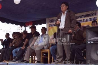 Acto inaugural encabezó el alcalde de Pacaraos Arturo Sarmiento.