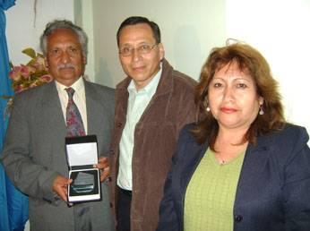 Periodista Federado Alejandro Maguiño, Francisco Nieves junto a su esposa Nancy gerente de  Radio Amistad Foto: Carlos Olivares/Huaralenlinea