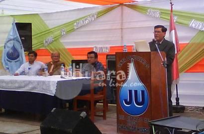 Marcial Vega Lostanau presidente de la Junta de usuarios Chancay - Huaral.