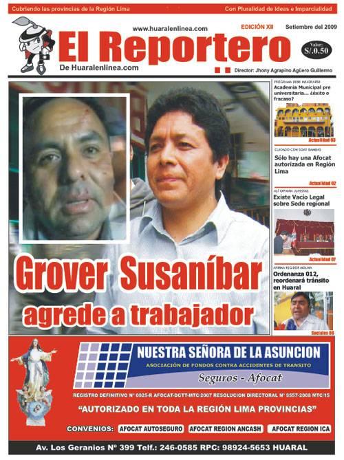 Portada Edición 12 - El Reportero Setiembre 2009