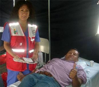 Donación voluntaria de sangre en Huaral.