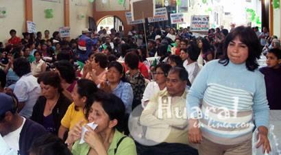 Población huaralina asistió y participó  en la audiencia pública vecinal.