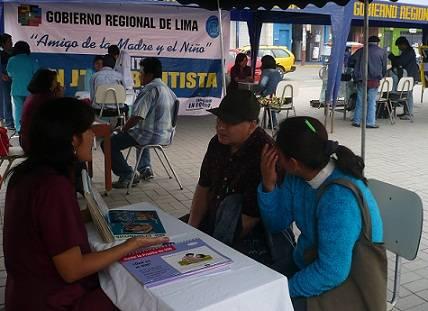 Hospital San Juan Bautista realizó pruebas gratuitas de VIH /Sida,  consejería y orientación sexual gratuita a la comunidad.