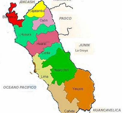 mapa region lima