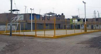 Entrega de Loza deportiva de Urbanizacion Lino Cahuas.