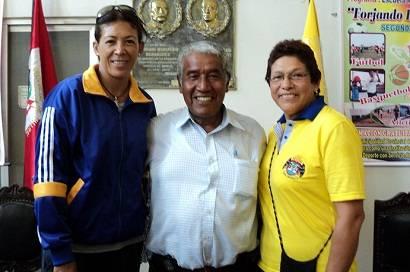 Dos grandes glorias del vóley peruano, Rosa García Rivas Sub-Campeona Olímpica y la chancayana Delia Cordova, Campeona Sudamericana